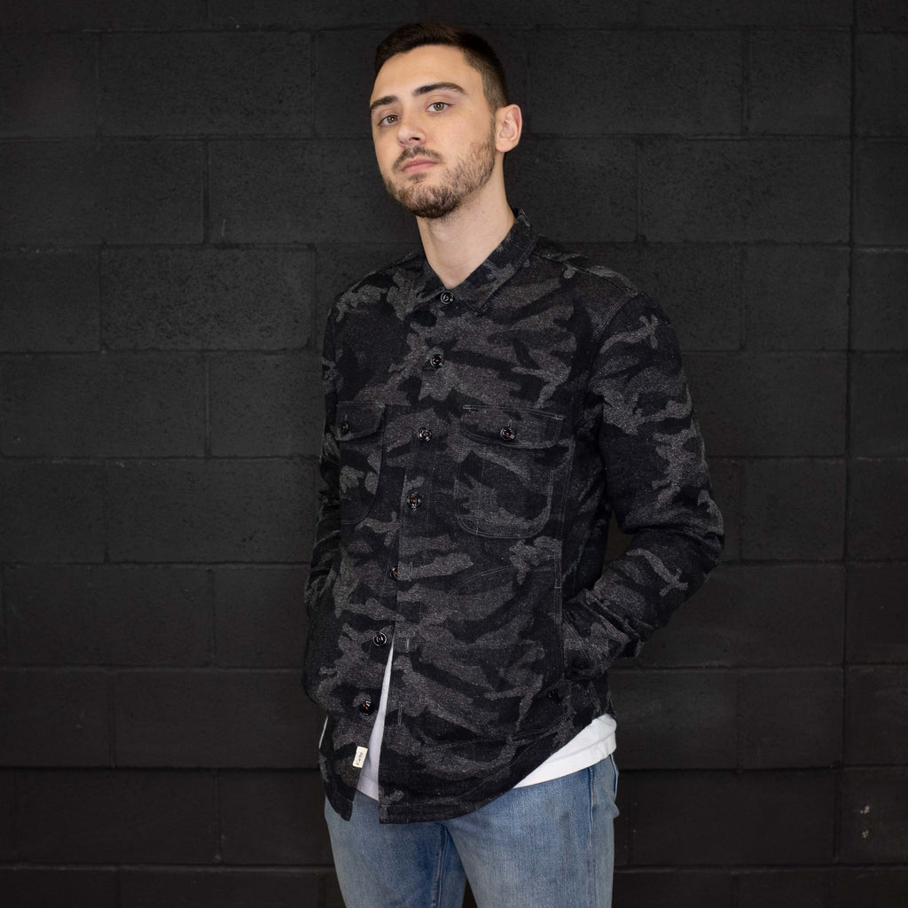 Kato - The Anvil Camouflage Shirt Jacket Neppy Jacquard - Foundry Mens Goods