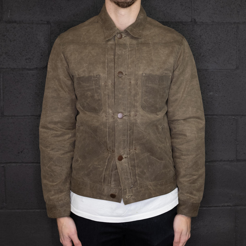 Freenote Cloth - Riders Jacket Waxed Canvas Taupe - Foundry Mens Goods
