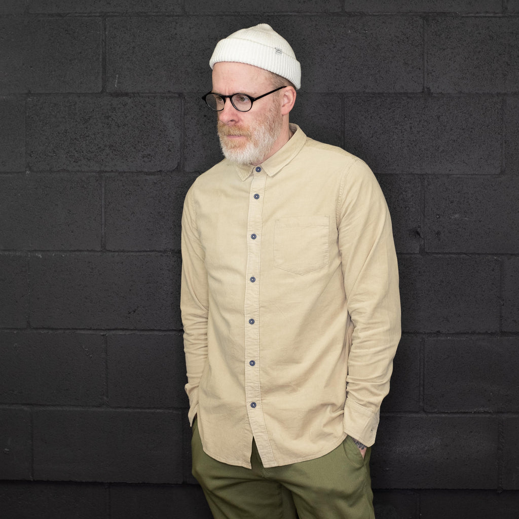 Banks Journal - Roy Shirt Long Sleeve Sand - Foundry Mens Goods