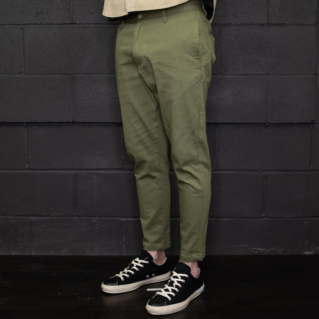 Banks Journal - Downtown Pant Cropped Olive Green - Foundry Mens Goods