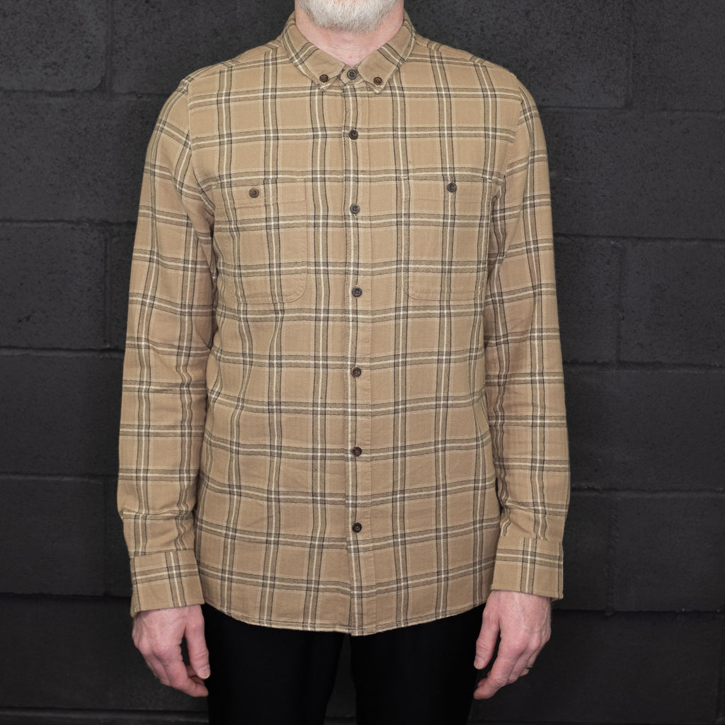 Banks Journal - Vanish Shirt Long Sleeve Plaid Sand - Foundry Mens Goods