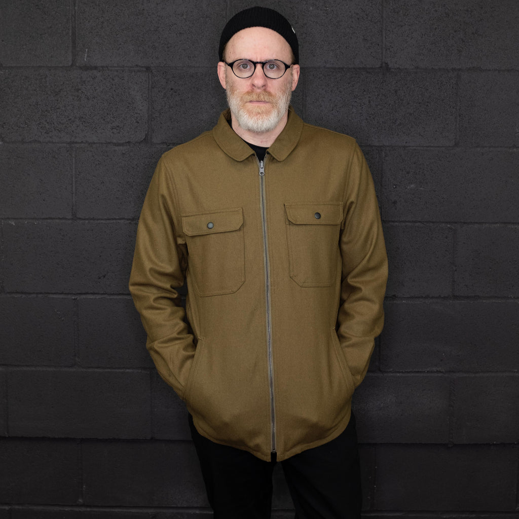 Banks Journal - Lumber Jacket Reversible Olive Green / Flannel - Foundry Mens Goods