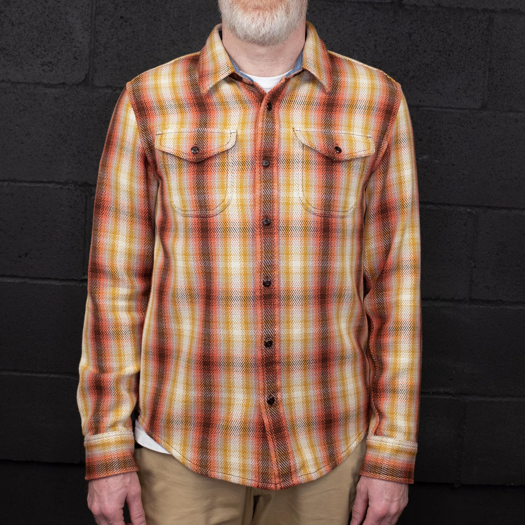Outerknown - Blanket Shirt Long Sleeve Sunset Sands Plaid - Foundry Mens Goods