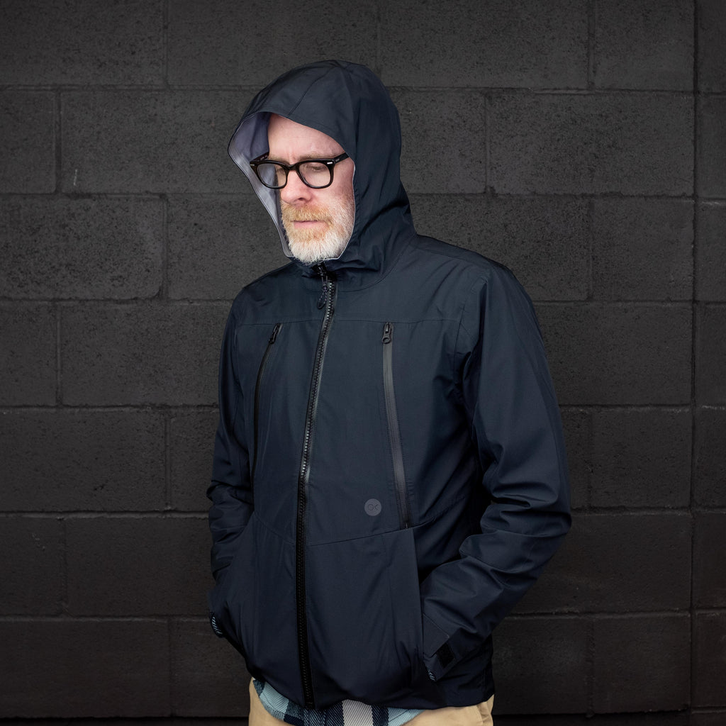 Outerknown - Offshore Rain Jacket Pitch Black - Foundry Mens Goods