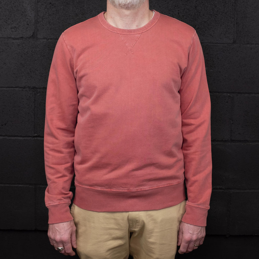 Outerknown - Stowaway Sweatshirt Crewneck Mineral Red - Foundry Mens Goods