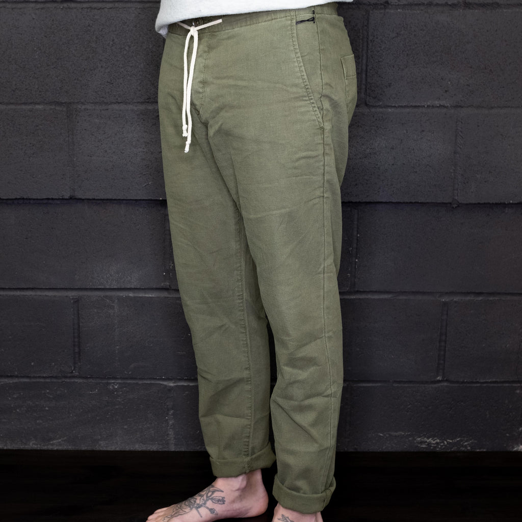 Life After Denim - Harbor Linen Pant Olive - Foundry Mens Goods