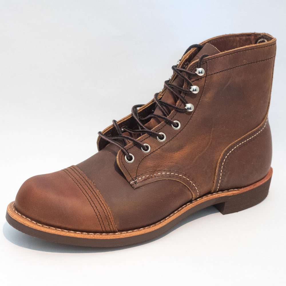 "Red Wing Heritage - 8085 Iron Ranger 6"" Boot Copper Rough & Tough - Foundry Mens Goods"