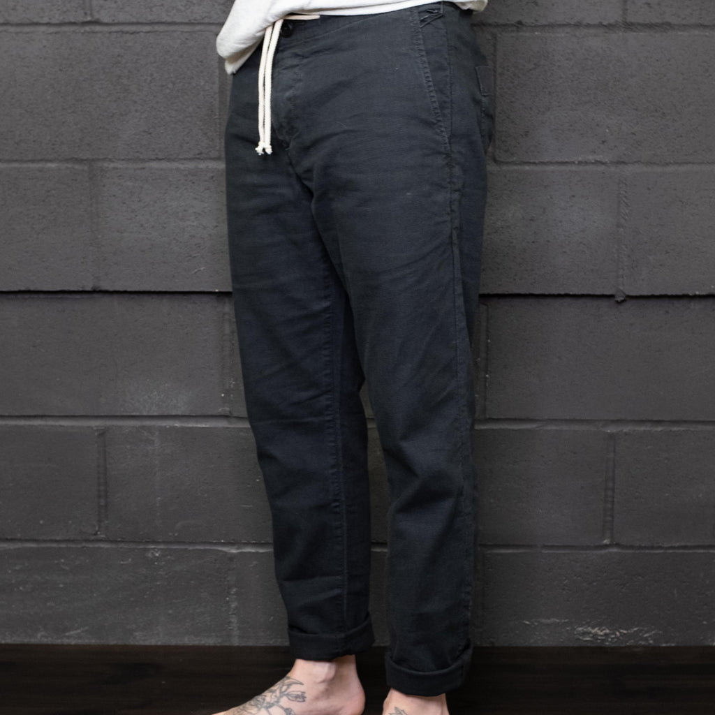 Life After Denim - Harbor Linen Pant Black - Foundry Mens Goods