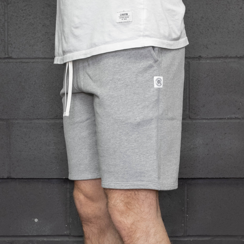 Reigning Champ - Midweight Terry Sweatshort Heather Grey - Foundry Mens Goods