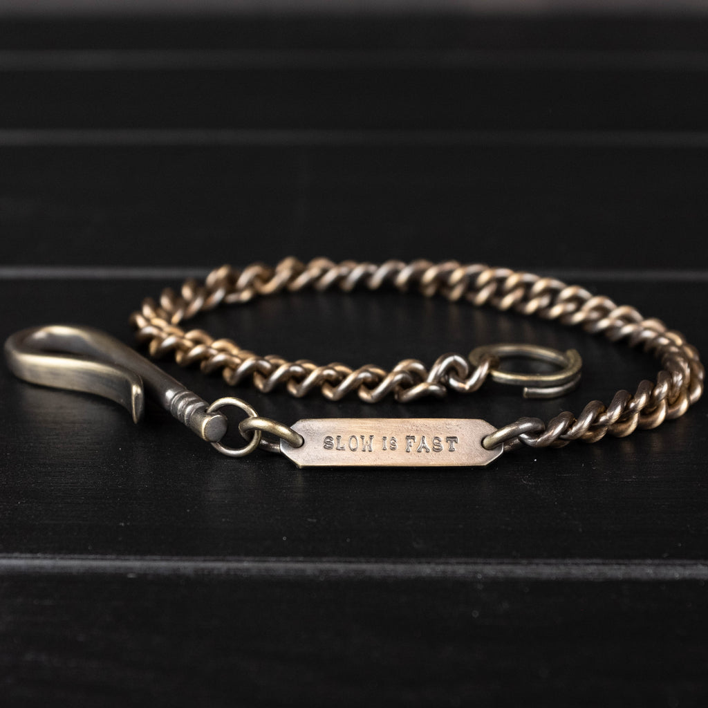Studebaker Metals - Wallet Curb Chain Brass