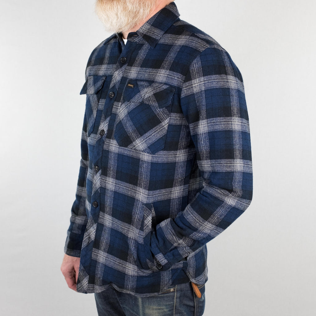 Deus Ex Machina - Maxwell Plaid Overshirt Navy - Foundry Mens Goods
