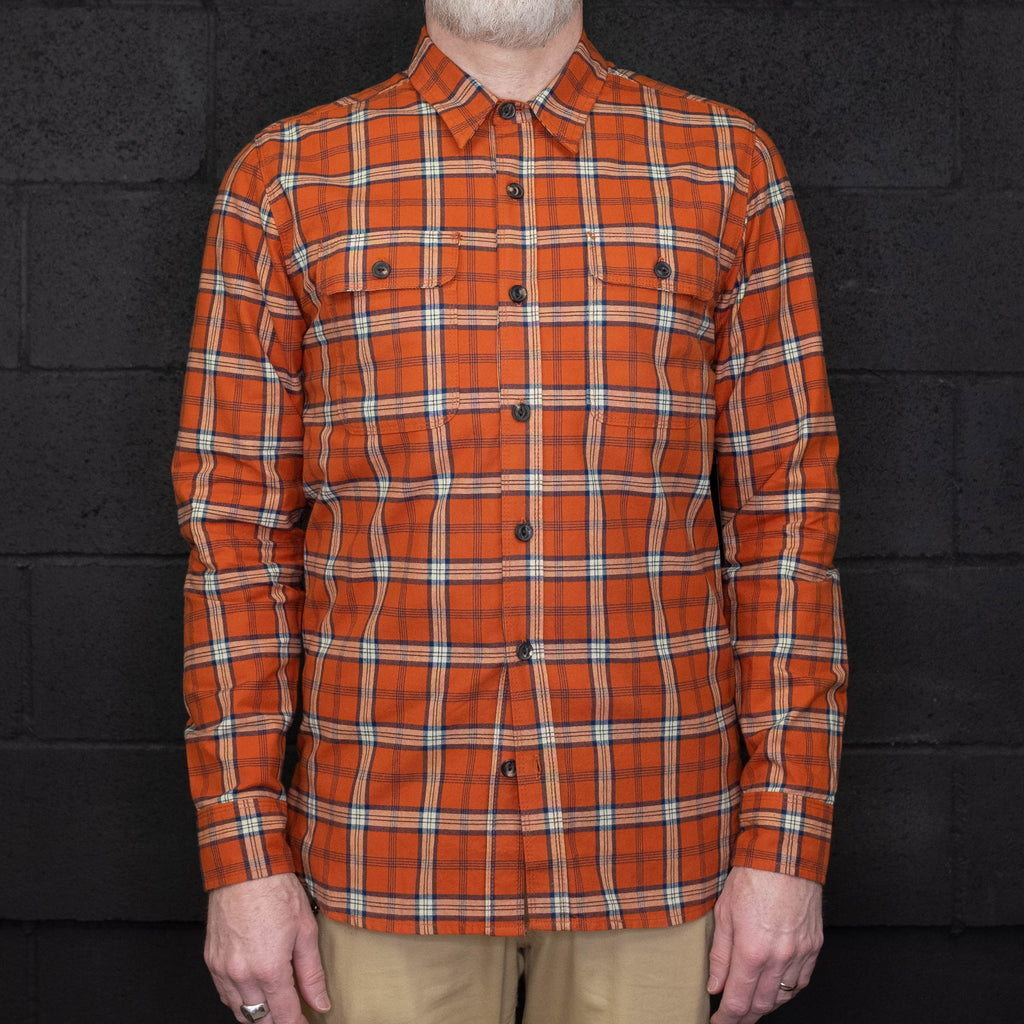 Freenote Cloth - Jepson Shirt Long Sleeve Burnt Orange - Foundry Mens Goods