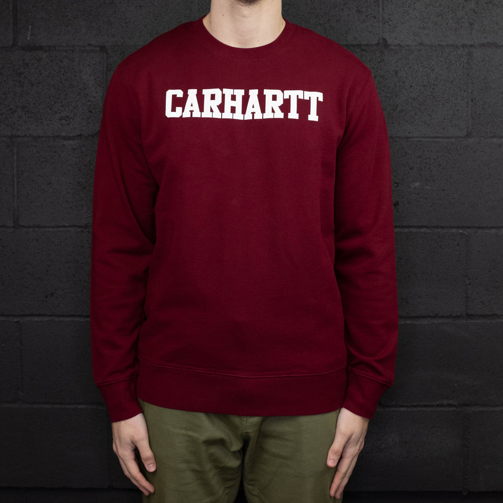 Carhartt WIP - College Crewneck Sweatshirt Red - Foundry Mens Goods