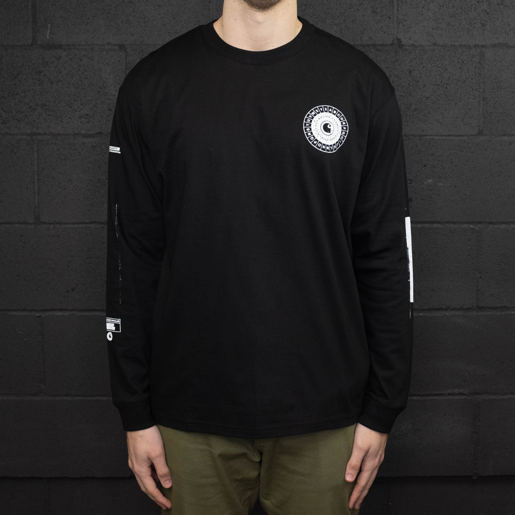 Carhartt WIP - Confidential Long Sleeve Tee Shirt Black - Foundry Mens Goods
