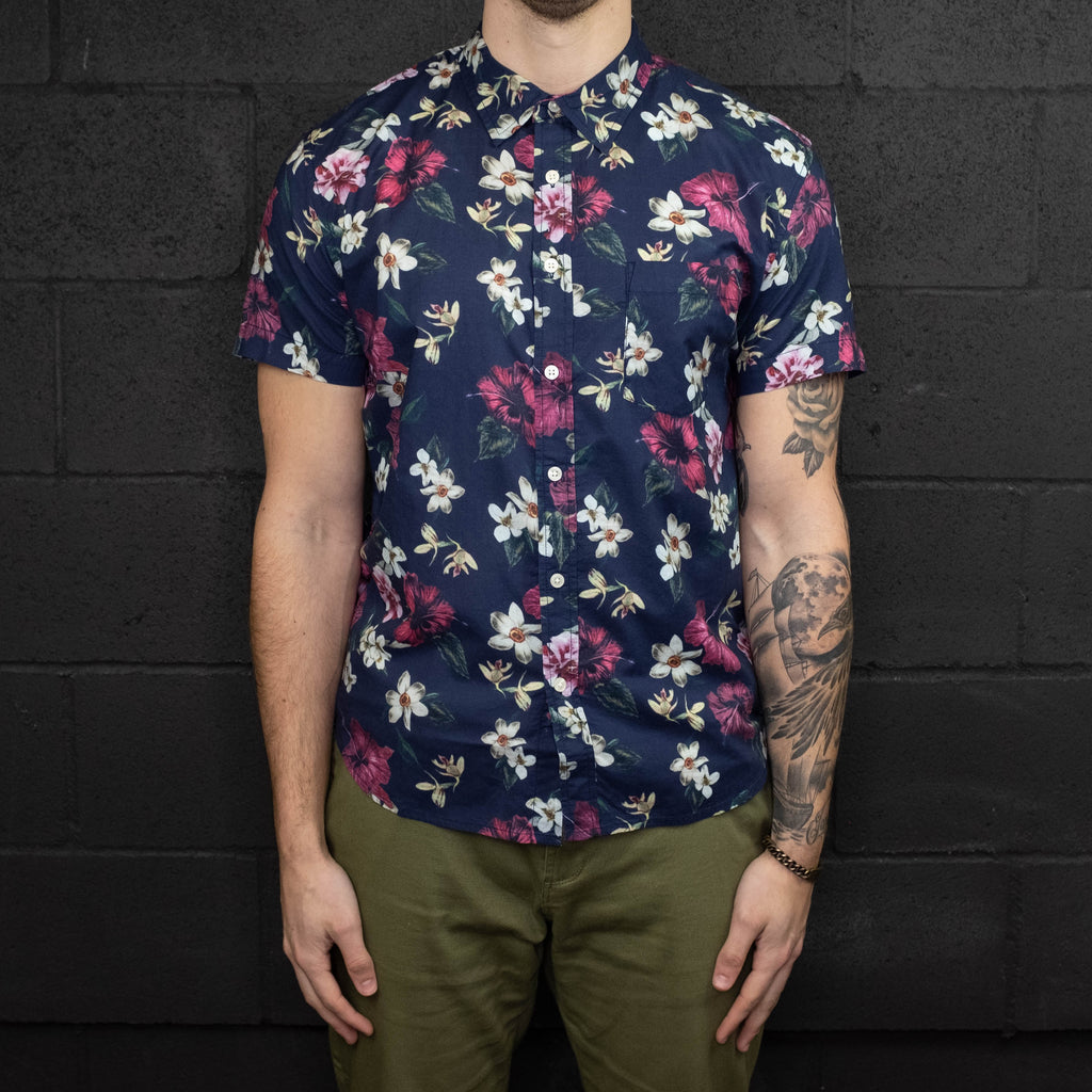 Corridor NYC - Navy Hawaiian Short Sleeve Shirt - Foundry Mens Goods
