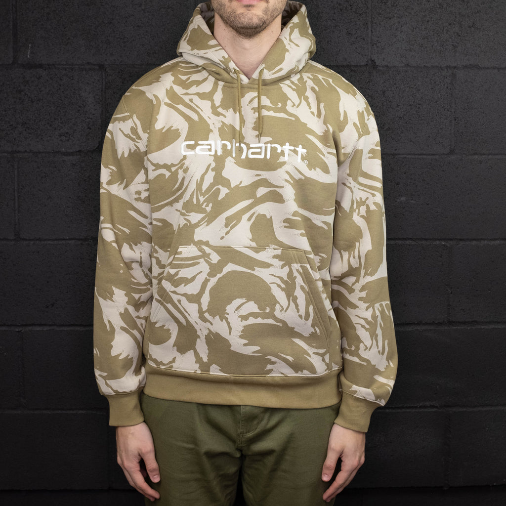 Carhartt WIP - Hooded Sweatshirt Light Camo - Foundry Mens Goods