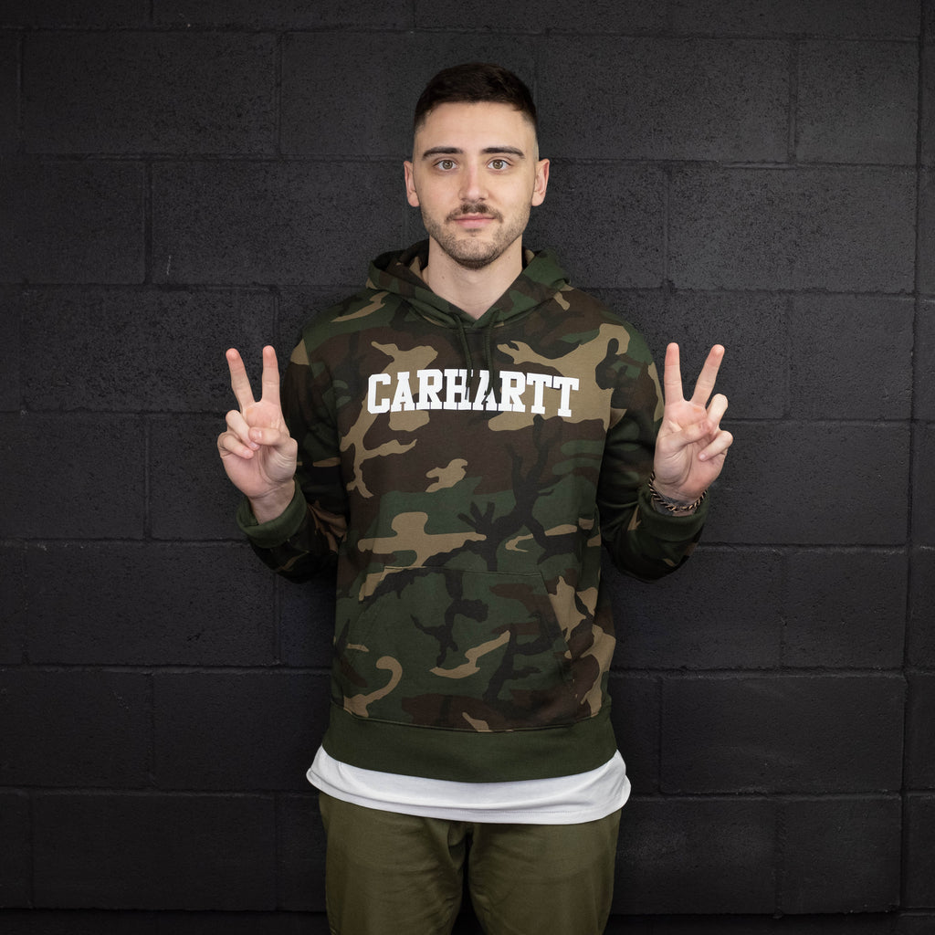 Carhartt WIP - Hooded College Sweatshirt Camo - Foundry Mens Goods