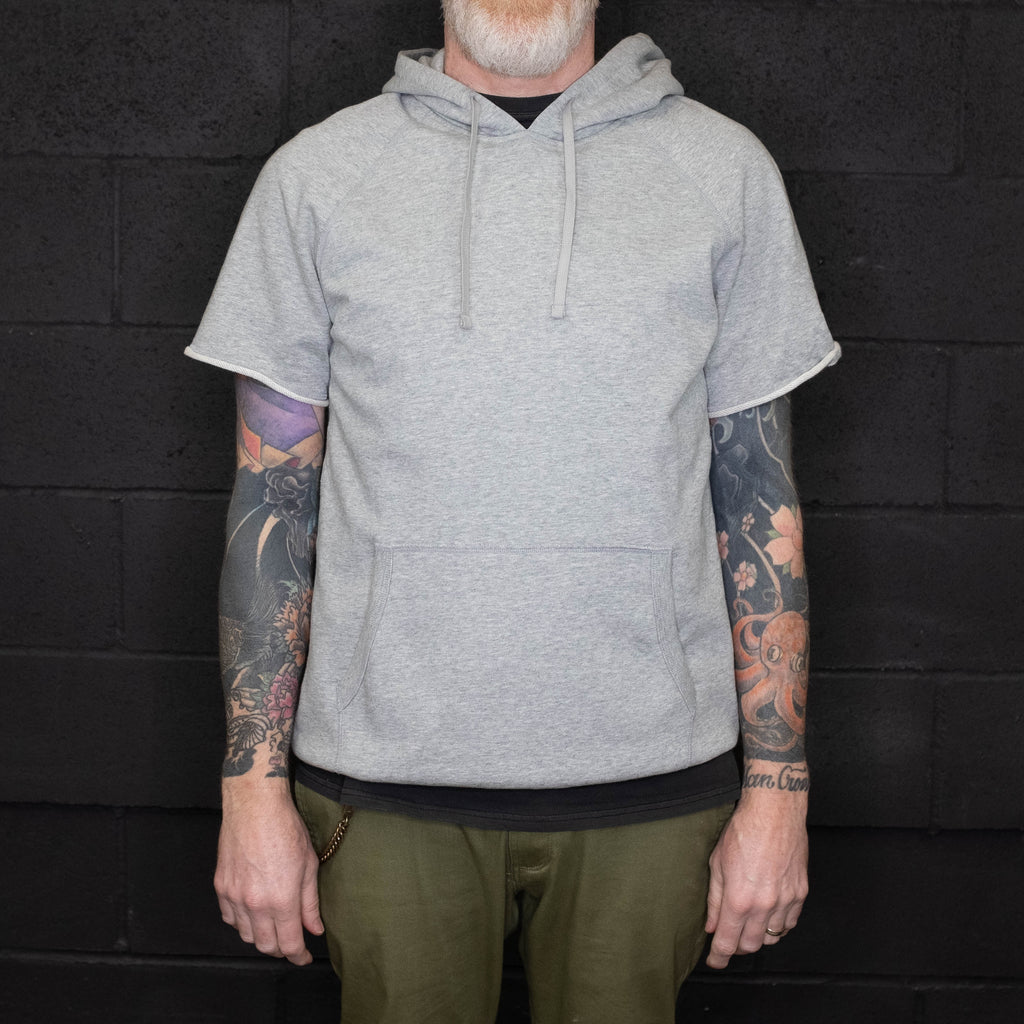 Reigning Champ - Lightweight Terry Cut Off Hoodie Heather Grey