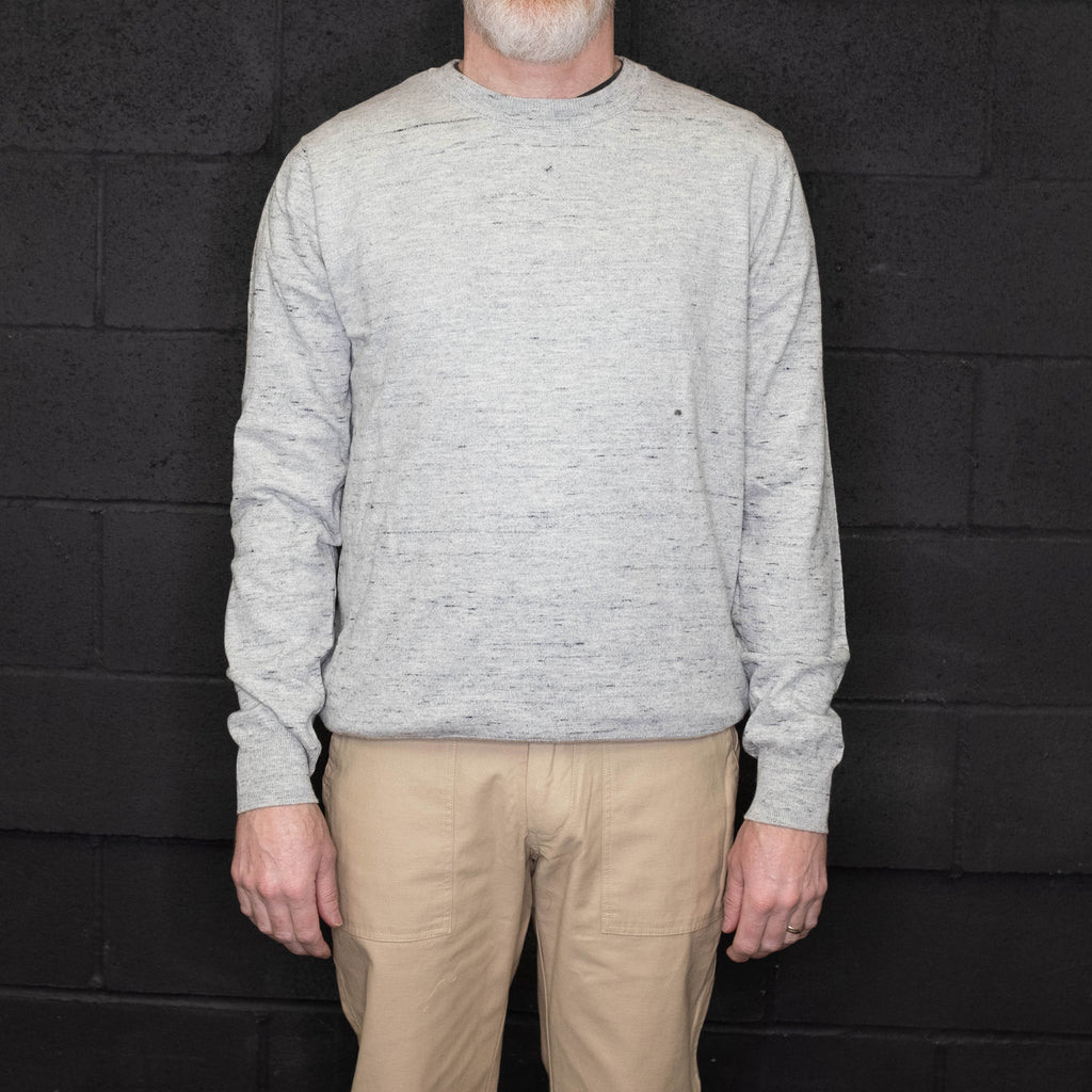 Schott NYC - SW1913 Cotton Crew Neck Sweater Heather Gray
