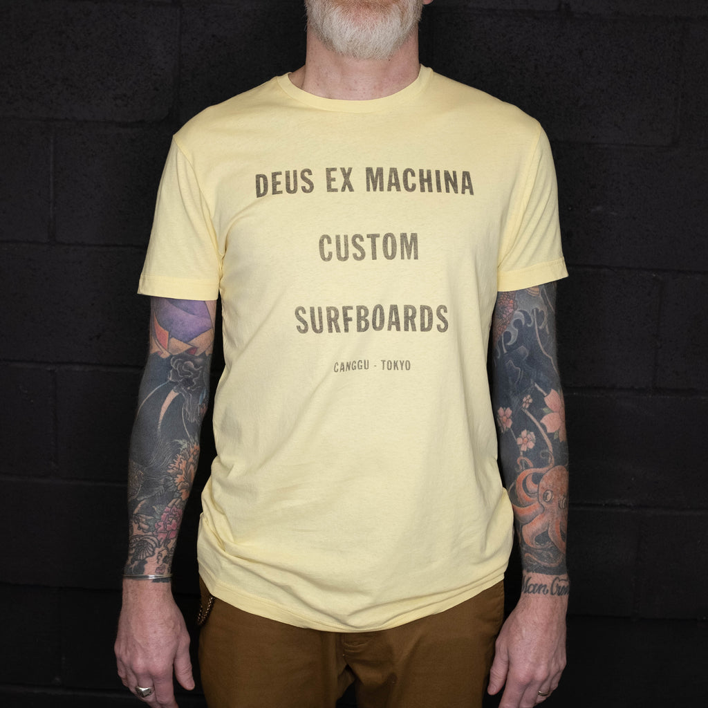 Deus Ex Machina - Tanner Tee Golden Haze - Foundry Mens Goods