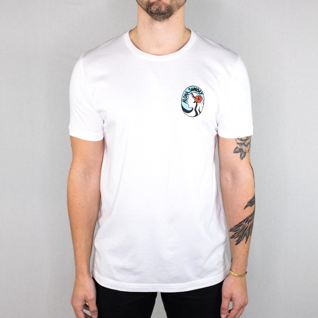 Aloha Sunday - Nani Tee White - Foundry Mens Goods