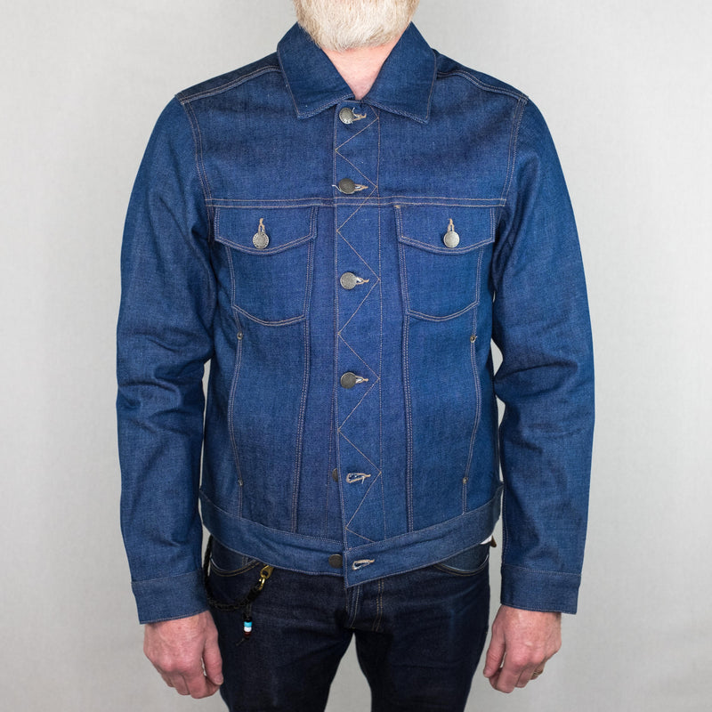 Freenote Cloth - Classic 14oz. Light Indigo Denim Jacket Royal Cast - Foundry Mens Goods