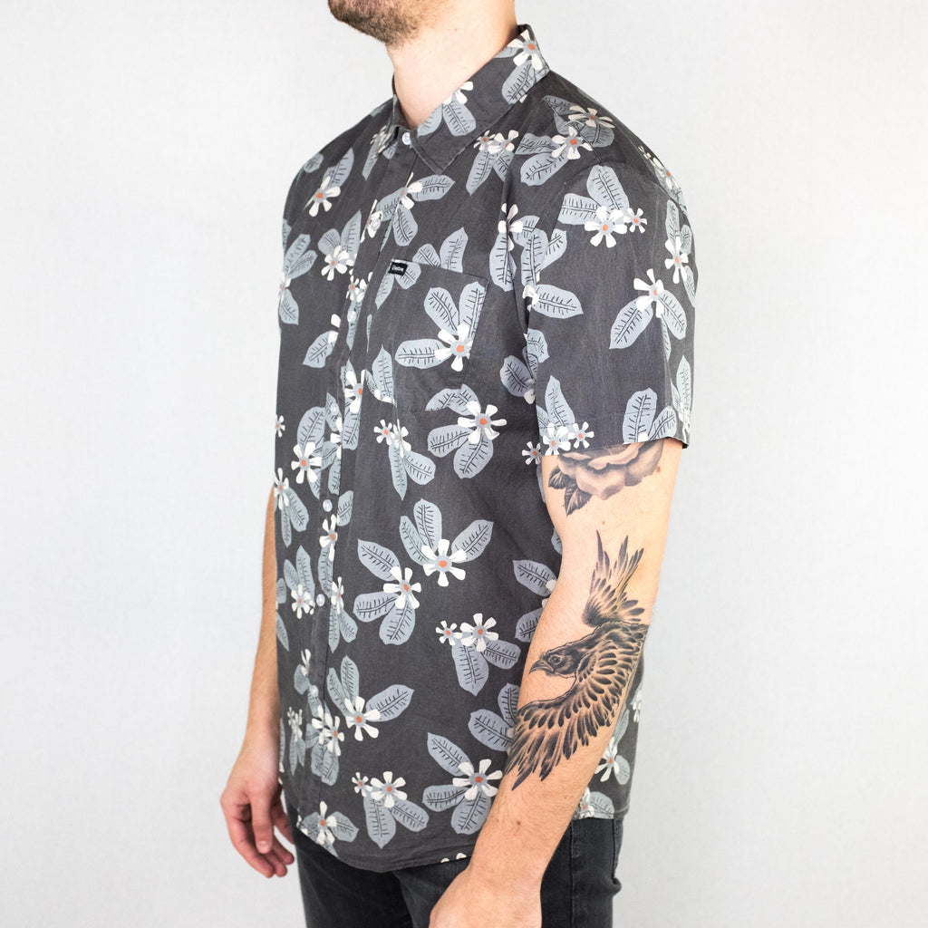 Brixton - Charter Shirt Short Sleeve Charcoal Blue - Foundry Mens Goods