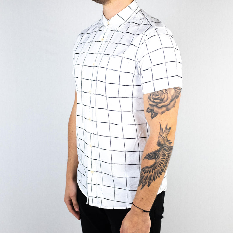 Deus Ex Machina - Ralph Dobby Short Sleeve Shirt Check White-Black - Foundry Mens Goods