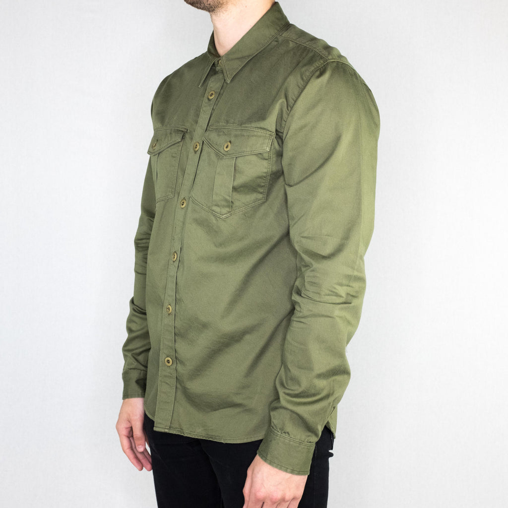 Freenote Cloth - Dayton Long Sleeve Shirt Cedar Green - Foundry Mens Goods