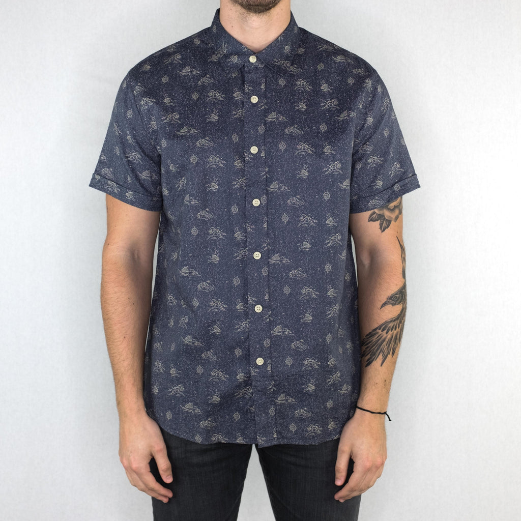 Grayers - Land and Sea Printed Short Sleeve Shirt Double Cloth - Foundry Mens Goods