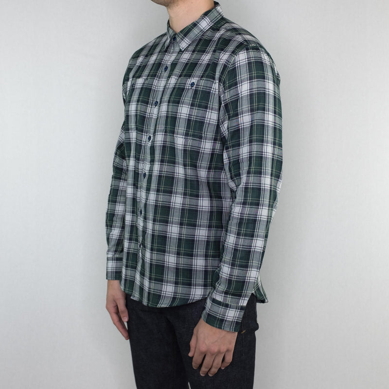 Bridge and Burn - Winslow Long Sleeve Shirt Leaf Green Plaid - Foundry Mens Goods