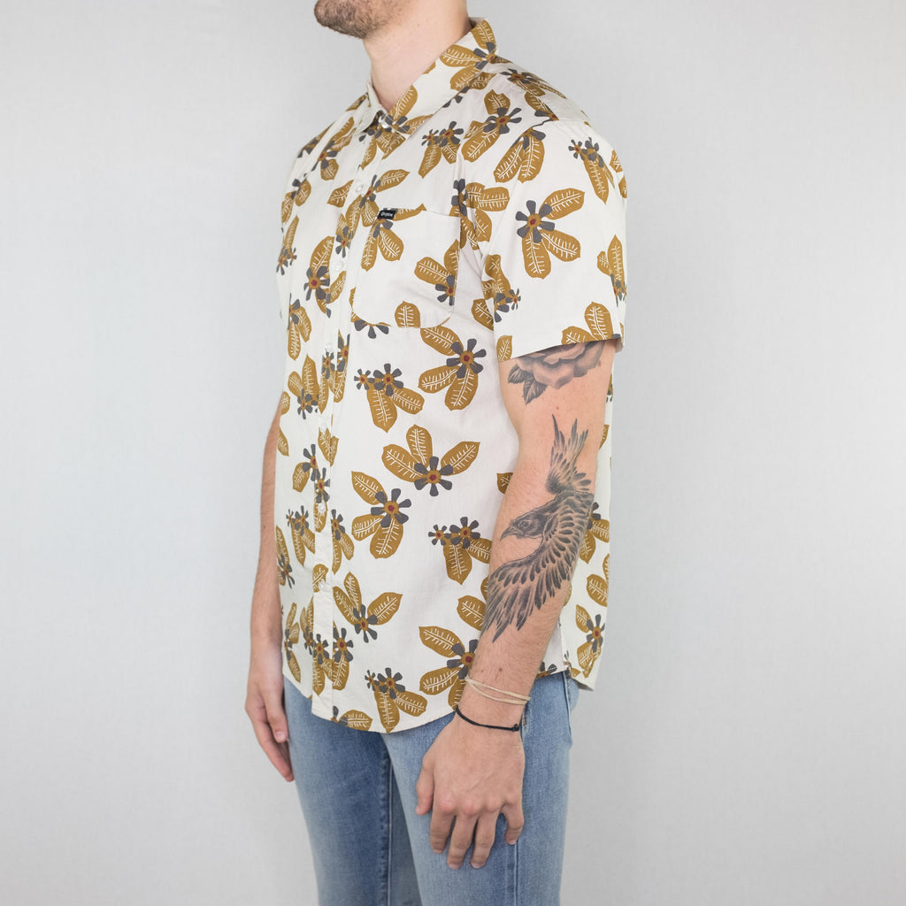 Brixton - Charter Short Sleeve Bone Bronze - Foundry Mens Goods