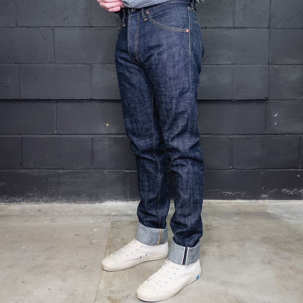 Chet X Foundry - 201 'Narrows' 14oz. Blue/Black Crosshatch Xinjang Raw Selvedge Denim - Foundry Mens Goods