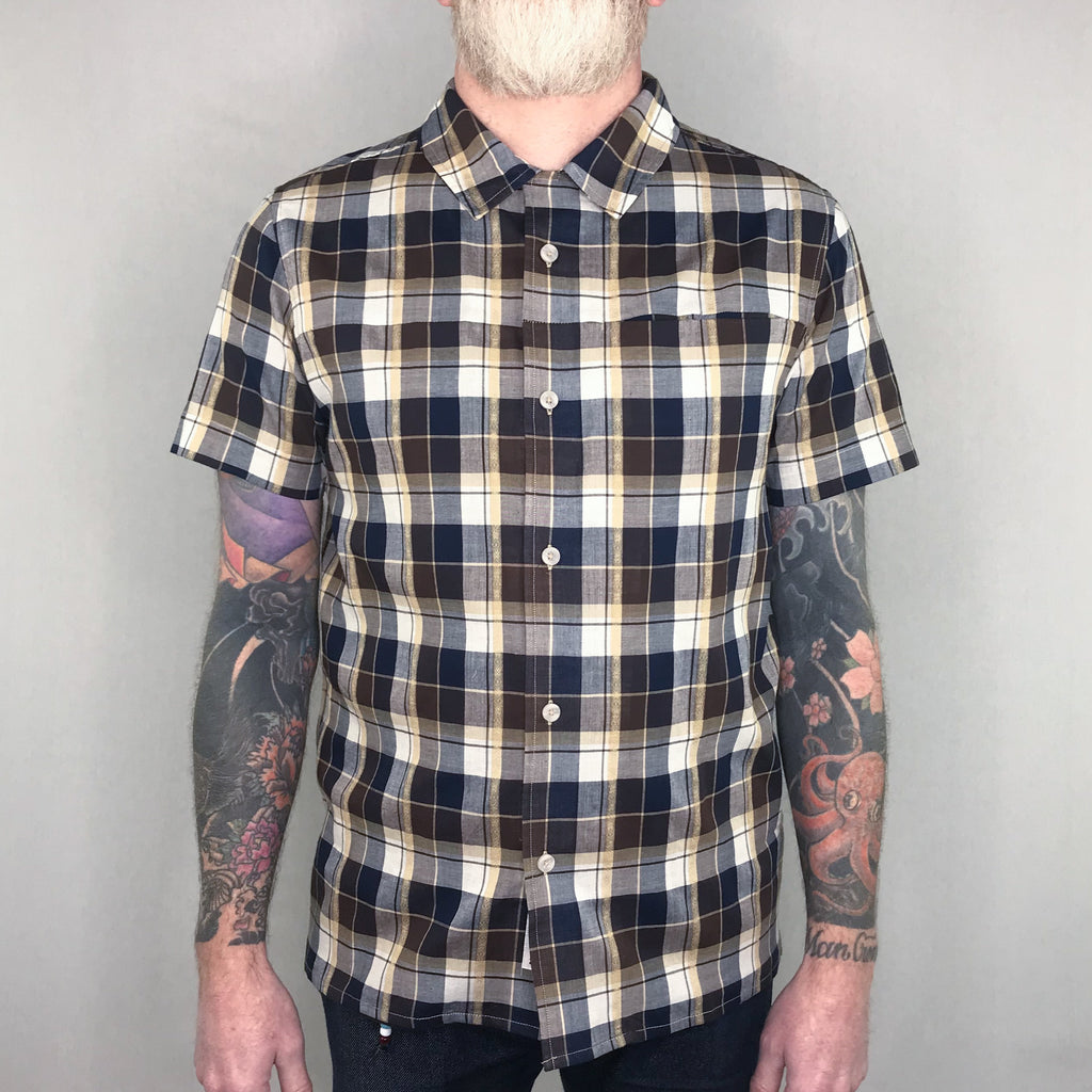 Roamers & Seekers - Mandras Shirt Short Sleeve Bison Check - Foundry Mens Goods