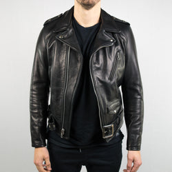 Schott NYC - 519 Waxy Natural Cowhide 50's Perfecto Motorcycle Leather Jacket