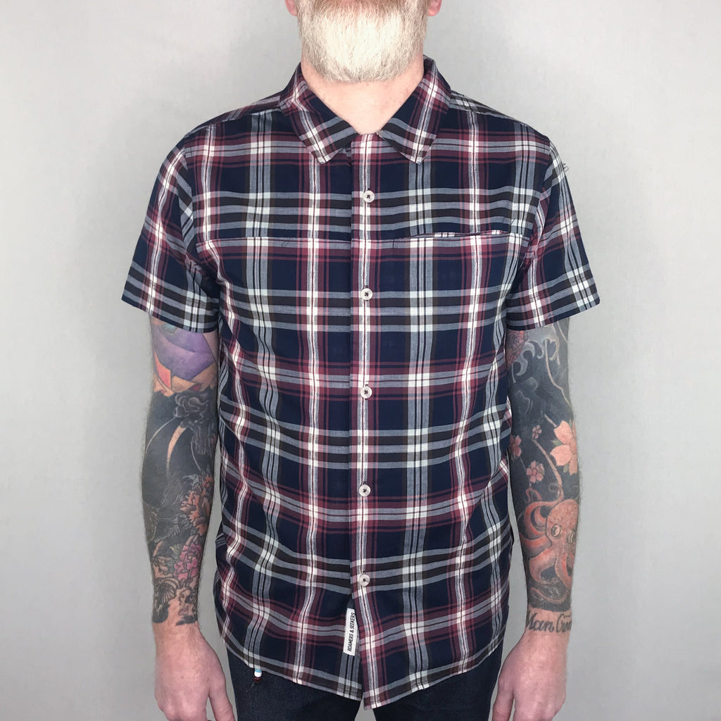 Roamers & Seekers - Mandras Shirt Short Sleeve Rich Navy