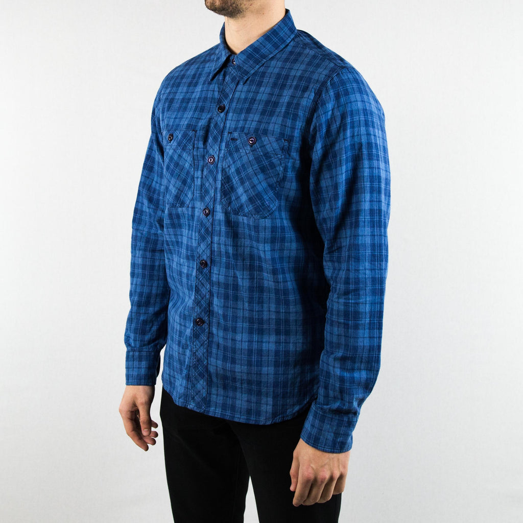 Rogue Territory - BM Shirt Long Sleeve Vintage Indigo Plaid