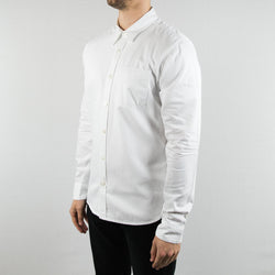 Freenote Cloth - Parker Shirt Long Sleeve Pure White - Foundry Mens Goods