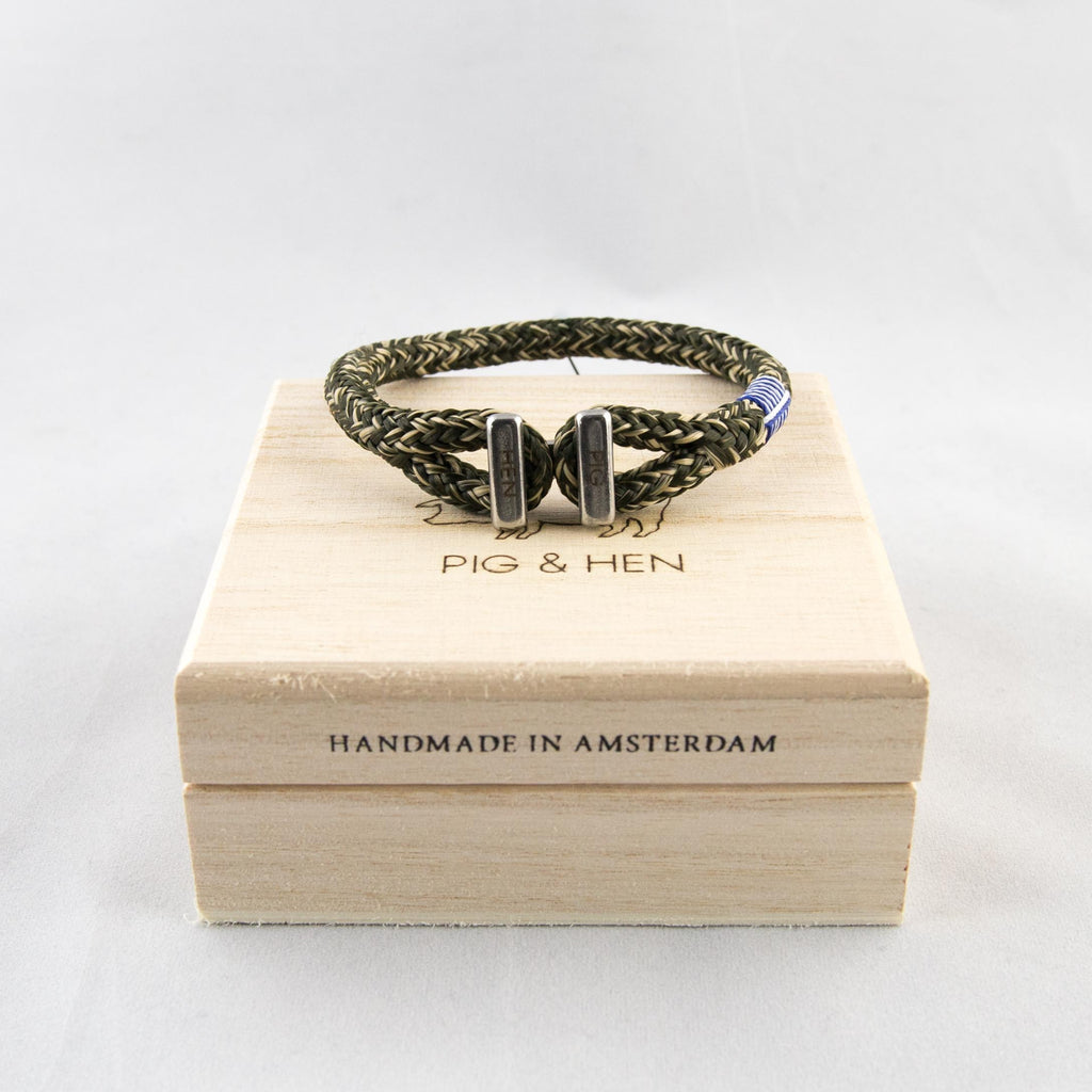 Pig & Hen - Icy Ike Bracelet Army/Sand - Foundry Mens Goods