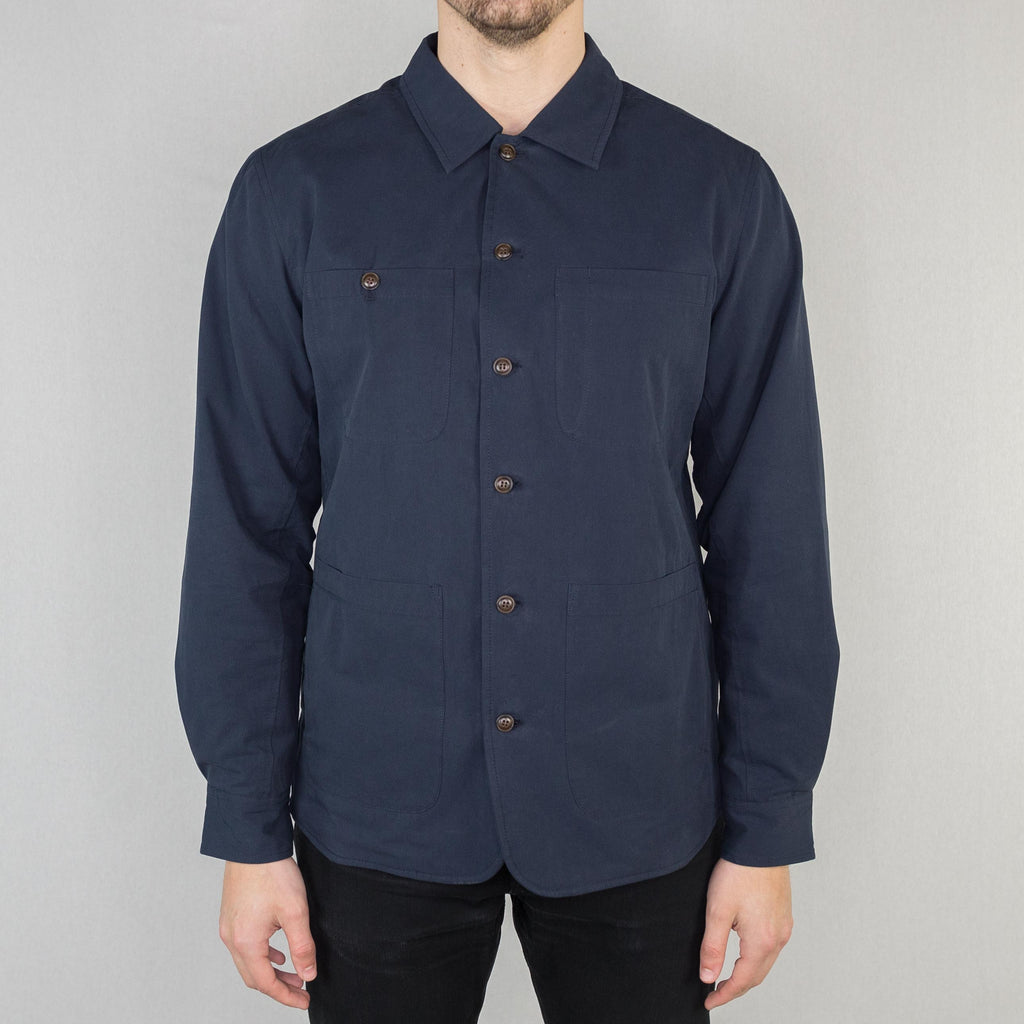 Bridge and Burn - Hawkins Overshirt Navy - Foundry Mens Goods