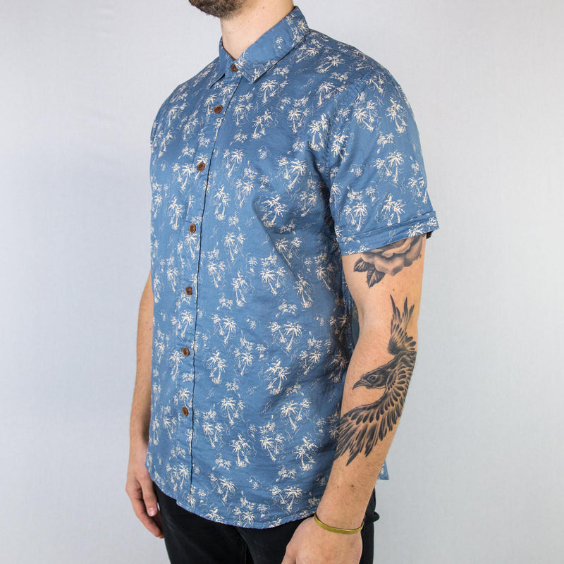 Grayers - Palm Island Printed Double Cloth Short Sleeve Shirt - Foundry Mens Goods