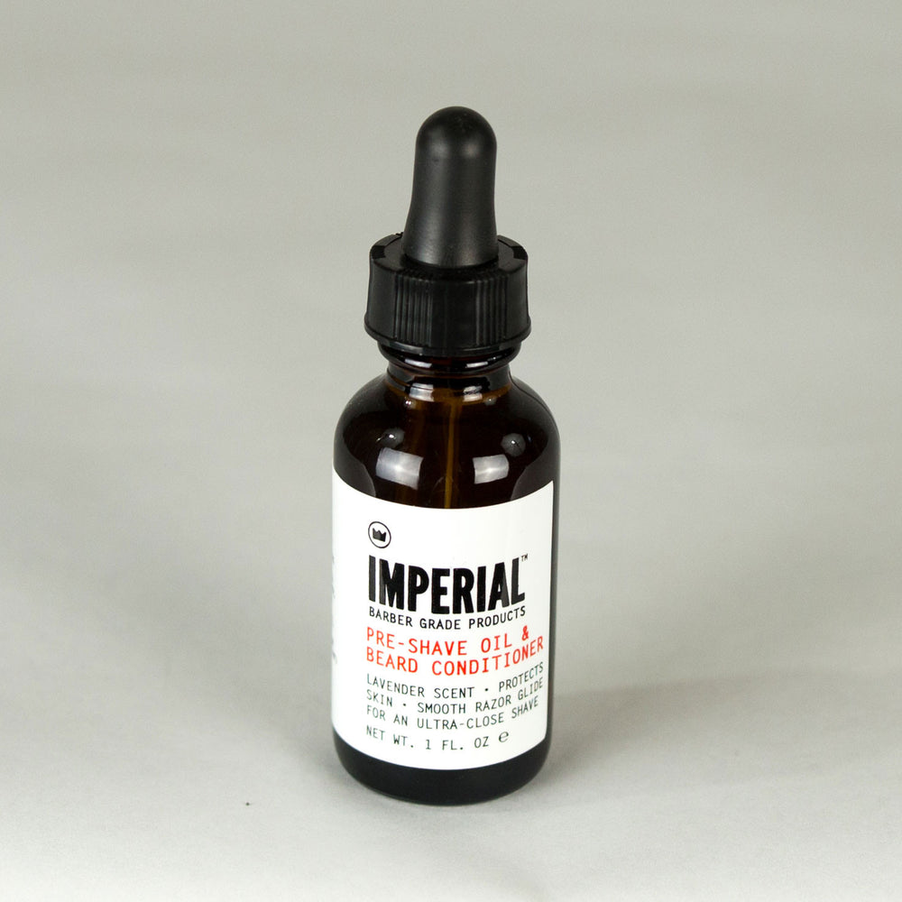 Imperial Barber Grade Products - Pre Shave Oil and Beard Conditioner - Foundry Mens Goods