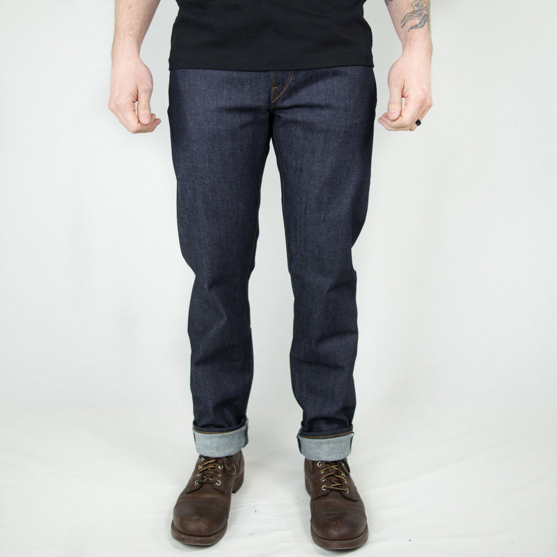 "Kato ""Pen"" Slim 4-Way Stretch Selvedge - Foundry Mens Goods"