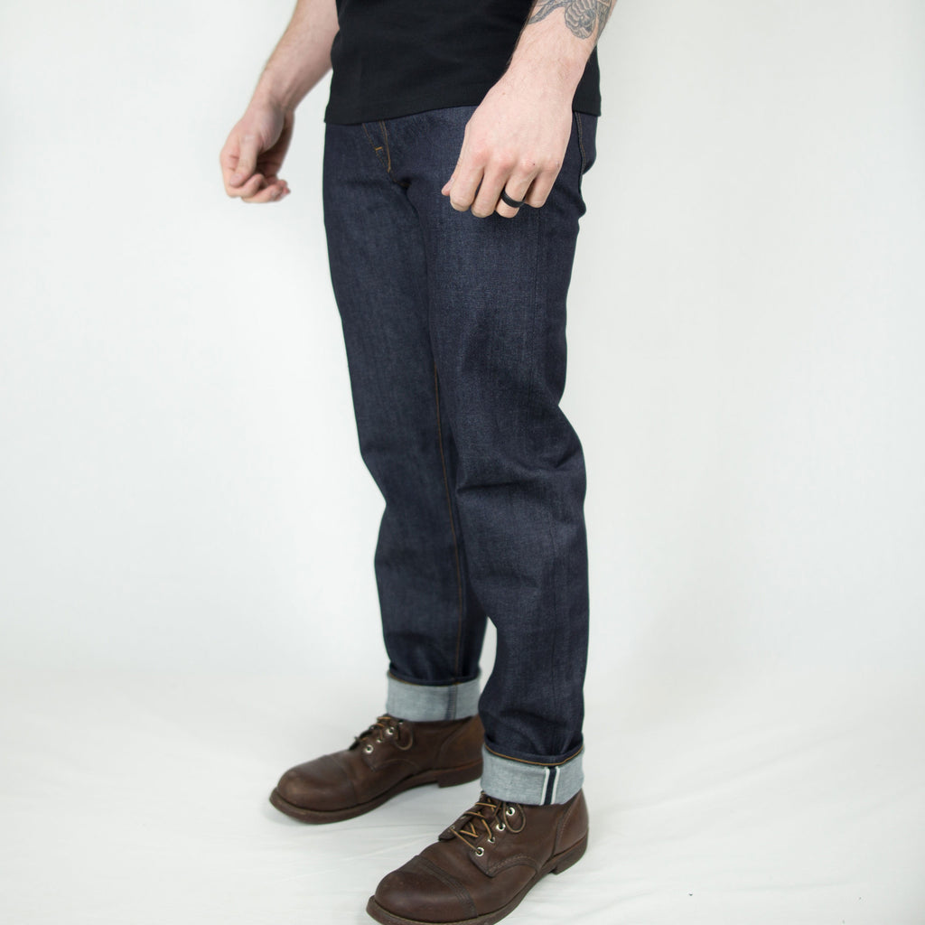 "Kato - ""The Pen"" Slim 4-Way Stretch Selvedge - Foundry Mens Goods"
