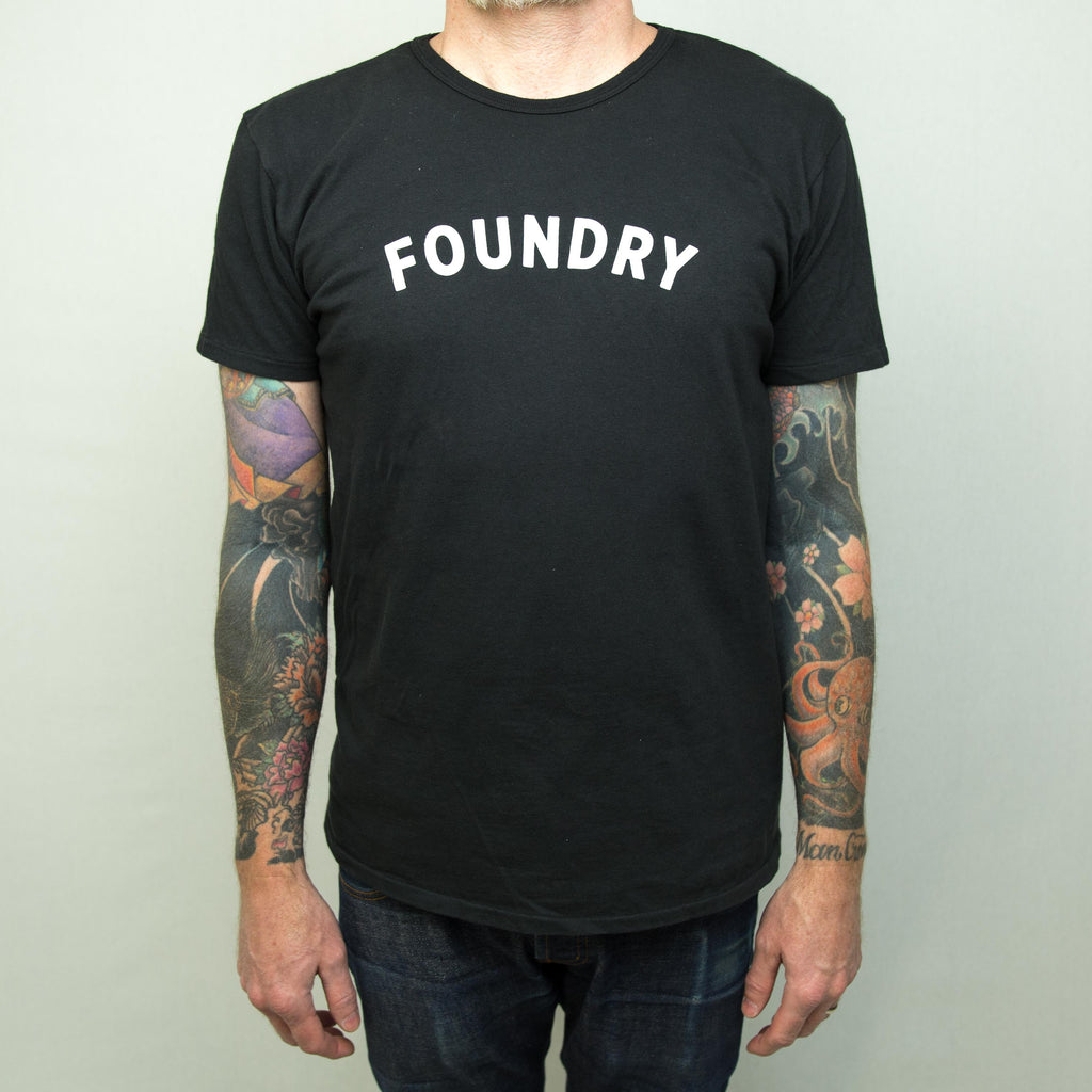 Foundry x Knickerbocker Mfg Tee Black - Foundry Mens Goods