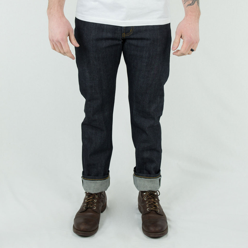 "Naked and Famous - ""Left Hand Twill"" Weird Guy 13.75oz Selvedge Denim - Foundry Mens Goods"