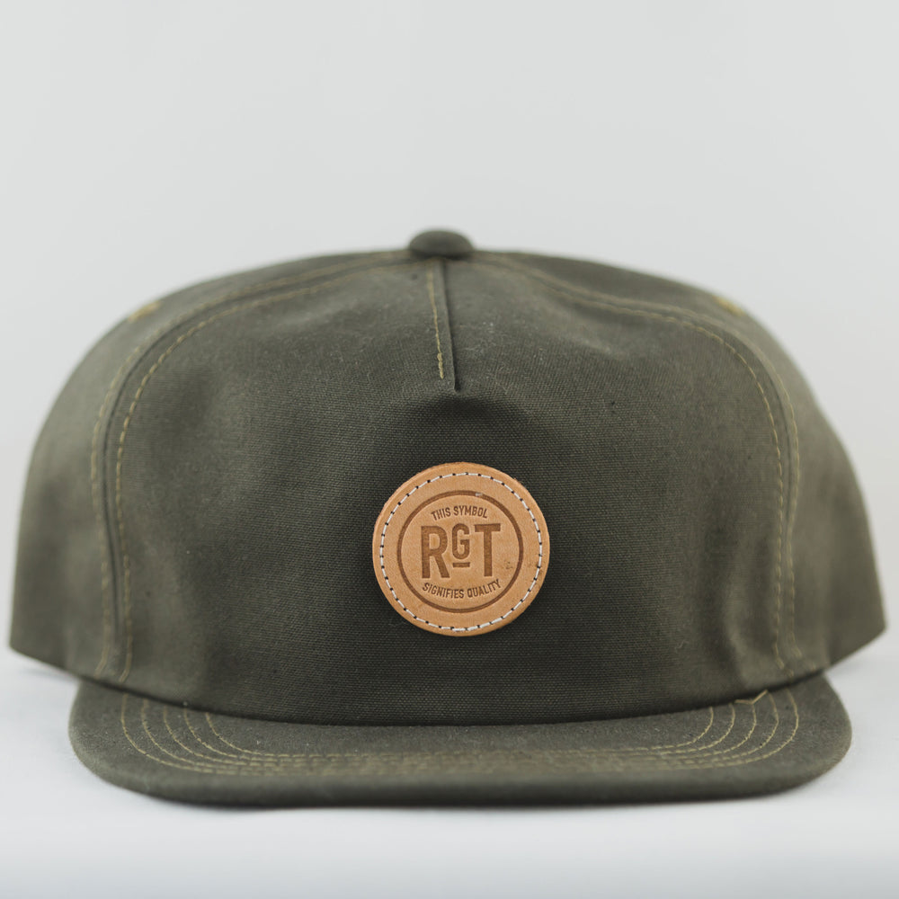 Rouge Territory 5 Panel Snap Back Olive - Foundry Mens Goods
