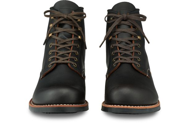 Red Wing Heritage - 3345 Blacksmith Boot Black Prairie Leather - Foundry Mens Goods