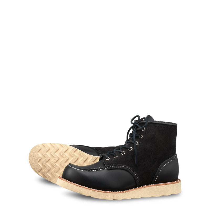 "Red Wing Heritage - 8818 6"" Limited Edition Moc Toe Black Chrome / Black Abilene Roughout"