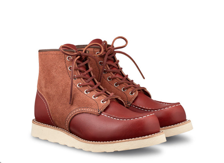 "Red Wing Heritage - 8819 Limited Edition Moc Toe 6"" Oro Russet Portage / Oro Russet Abilene Roughout - Foundry Mens Goods"